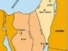 Rudé moře a Eilat - mapa.